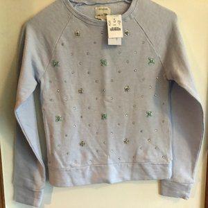 ✨HP CREWCUTS Rhinestone Embellished Sweatshirt 12